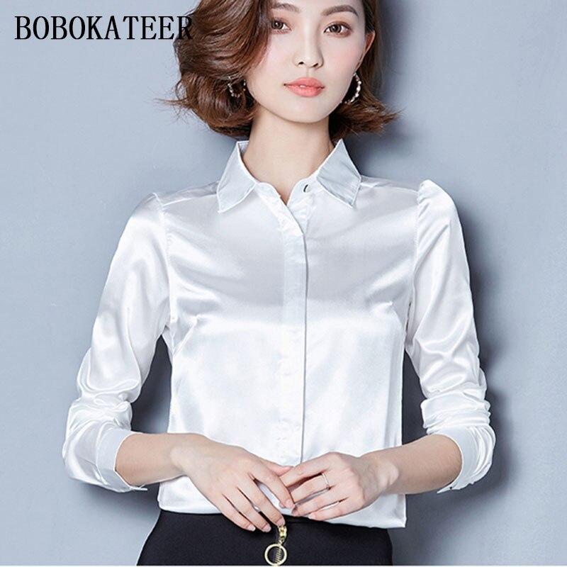 BOBOKATEER plus size z długim rękawem niebieski czarny biały szary casual kobiety bluzki bluzka blusas bluzka bluzki blusas feminina ver o 2017