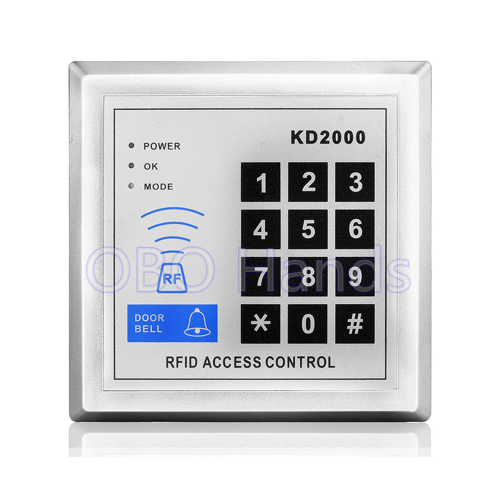 Free Shipping High Sensitive 125KHz Access Control Keypad RFID Card Reader Door Access Control System For Home/Apartment-KD2000 free shipping door stopper door holders for sale high suction