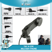 Z Tactical Headset Accessories PTT H 250 Airsoft Combat Military Phone CS Field Army Communication Accessories