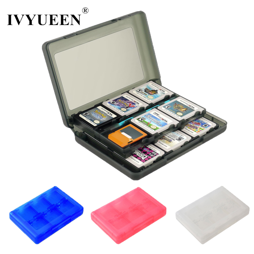 IVYUEEN 28 In 1 Game Memory Card Micro SD Case Holder For Nintend NDS NDSi LL 2DS 3DS XL New 3DS LL XL Cartridge Storage Box