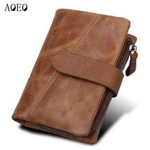 цены на Detachable Coin Purse men wallets genuine leather zipper with card holder money cash pocket male clutch Bags men's purse vintage  в интернет-магазинах