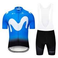 2019 EQUIPO MOVISTAR Ciclismo Jersey conjunto de Ropa de bicicleta de secado rápido Ropa de bicicleta Ropa de Ciclismo pantalones cortos traje de Ciclismo Maillot