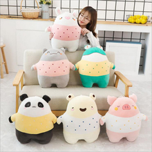 купить 50cm Cute Cartoon Pig Cat Bear Plush Toys Stuffed Animal Panda Frog Doll Toy Rabbit Plush Pillow Children Gifts по цене 1281.78 рублей