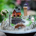 Free Shipping Rockery miniascape water fountain waterscape decoration ideas feng shui wheel humidifier art lovely place