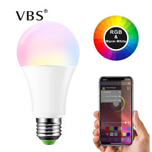 E27 15W Led RGB Bulb B22 Bluetooth Smart LED Bulb APP Control Music Voice Colors Smart Lighting Lampe LED Light RGBW RGBWW Lamp(China)