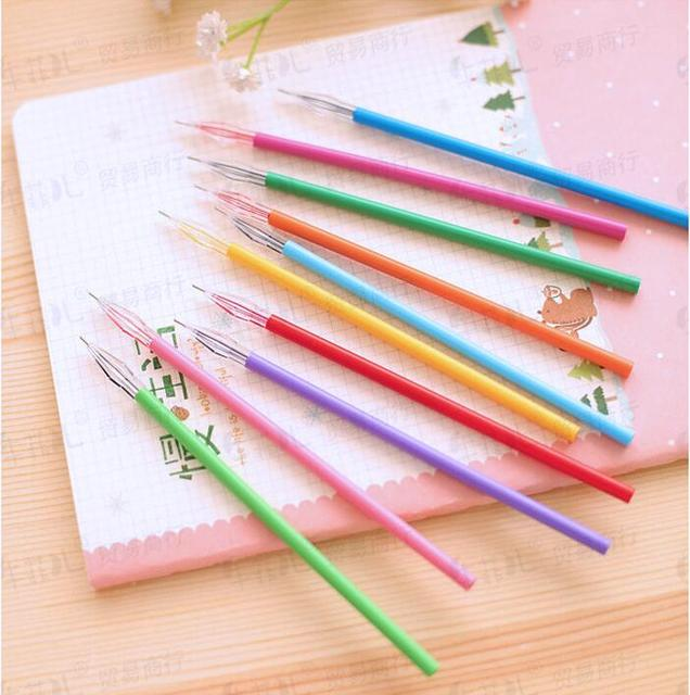 12 Pcs / pack , Diamond Head Factory Direct Creative Stationery Candy-Color Gel Pen Refills For The Core 0.38mm 12 Color