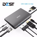 Док-станция DZLST USB C для ноутбука  USB C к Mini DP RJ45 Gigabit LAN HDMI 4K USB 3 0 Type C PD для Macbook Pro SAMSUNG S9/S8 +