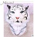 2016 Novo Luxo ENORME Fresco Cabeça Do Tigre Tigre Branco Cabeça Menina Estilo de moda de Luxo Saco de Mulheres Mochila Mochila Sacos de Menino Tigre BG324