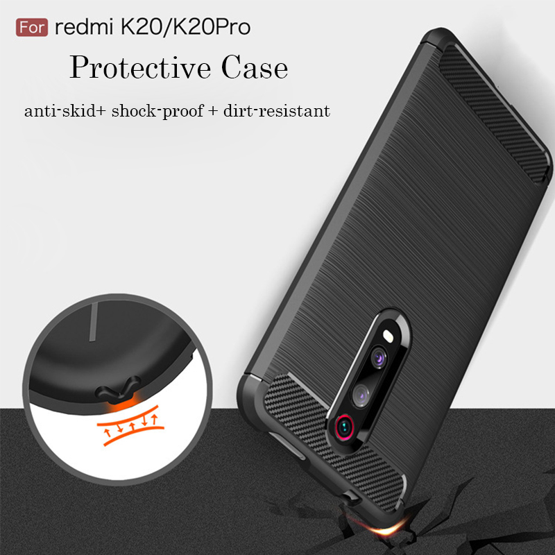 Shockproof Armor Phone Case Redmi Note 7 K20 Pro Silicone Soft TPU Cover For Xiaomi 9 SE 8 lite CC9 MIX 2S MAX 3 Protective Case in Fitted Cases from Cellphones Telecommunications
