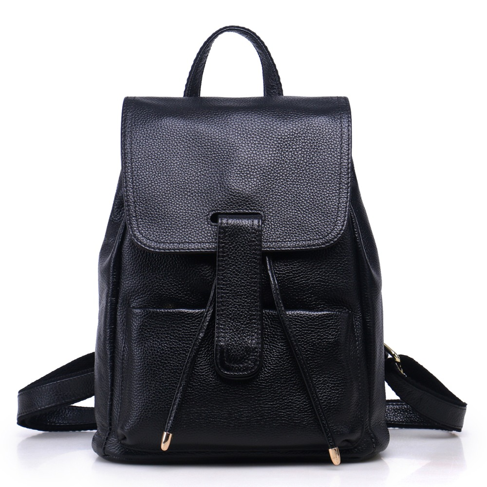 Hot Sales 2017 Fashion Brand Genuine Leather Women s Backpacks Cowhide Shoulder Bag Hot Sales School