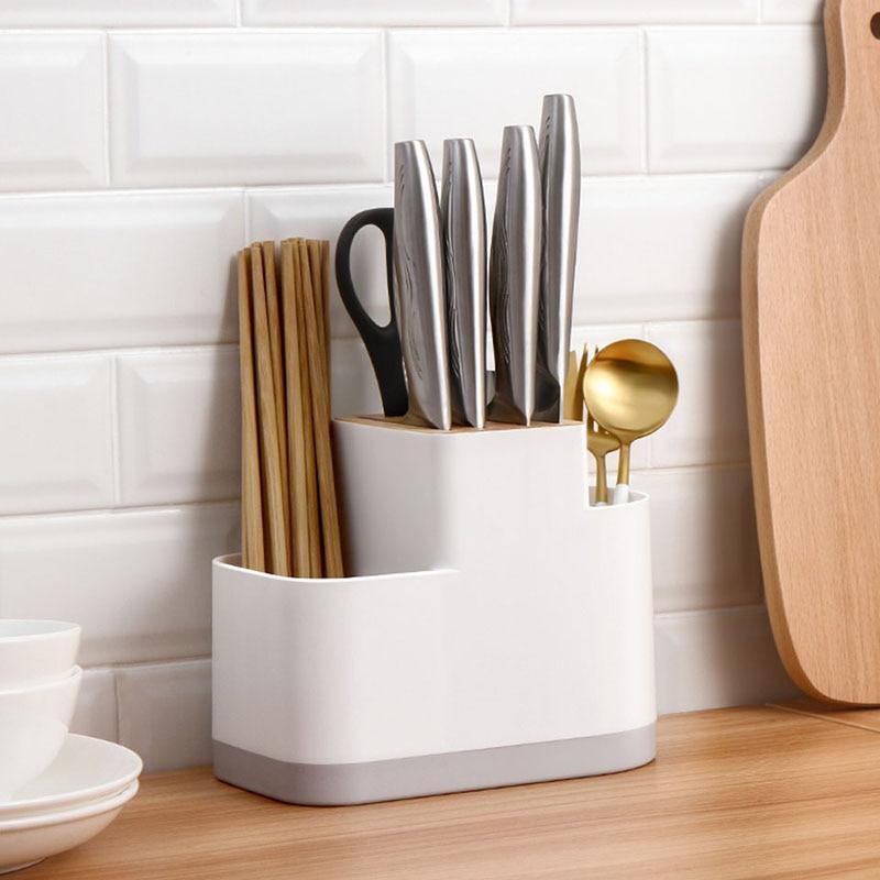 Kitchen knife holder chopstick cage integrated shelf  multi-functional kitchen appliances, household knife holder 22*12*17cm