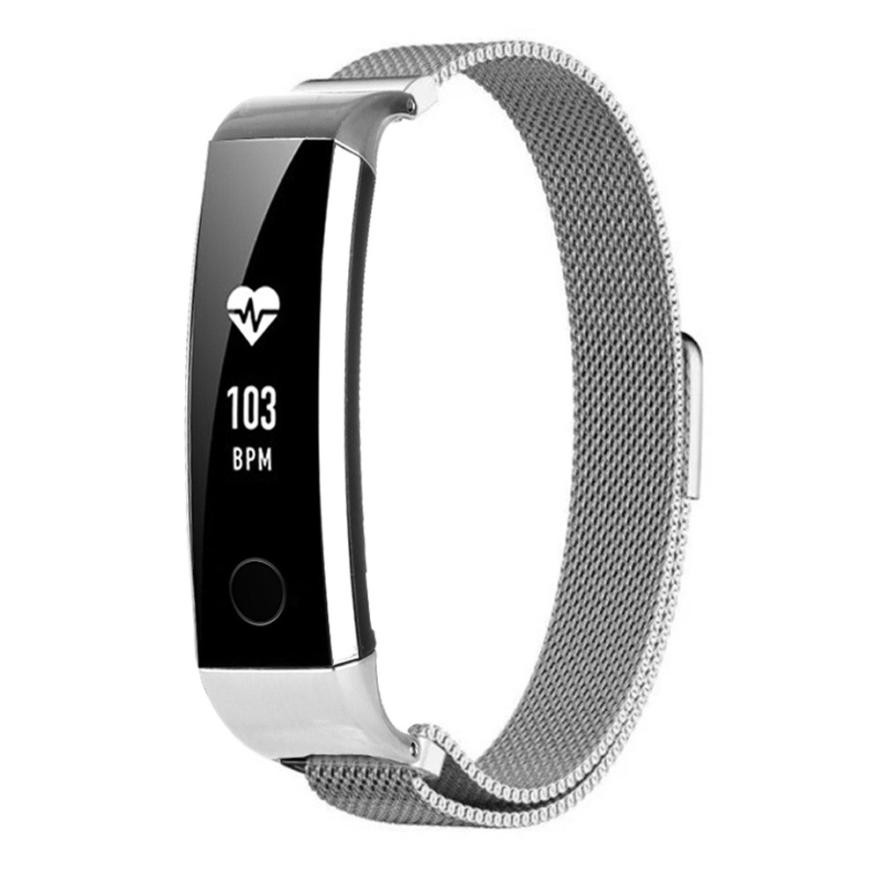 2018 New Luxury Milanese Magnetic Loop Stainless Steel Smart Watch Band Watch Strap Bracelet For Huawei Honor 3