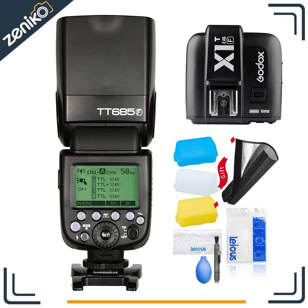 In Stock Free Shipping!!! Godox TT685F + X1T-F for Fujifilm Speedlite Strobe Camera Flash TTL HSS for X-Pro2/1 X-T20 X-T2 X-T1 x transbots boosticus kit bek 01tk for tt briticus japanese version in stock