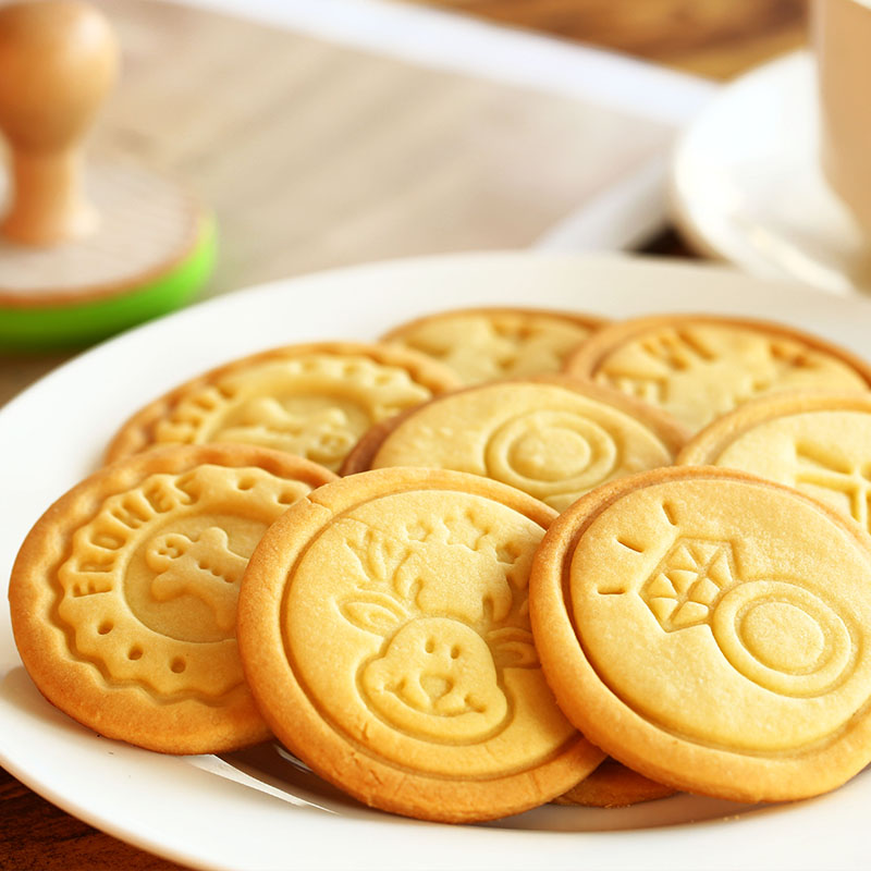 Cookie Stamp Cartoon Cookies Mold Silicone Seal Stainless Steel