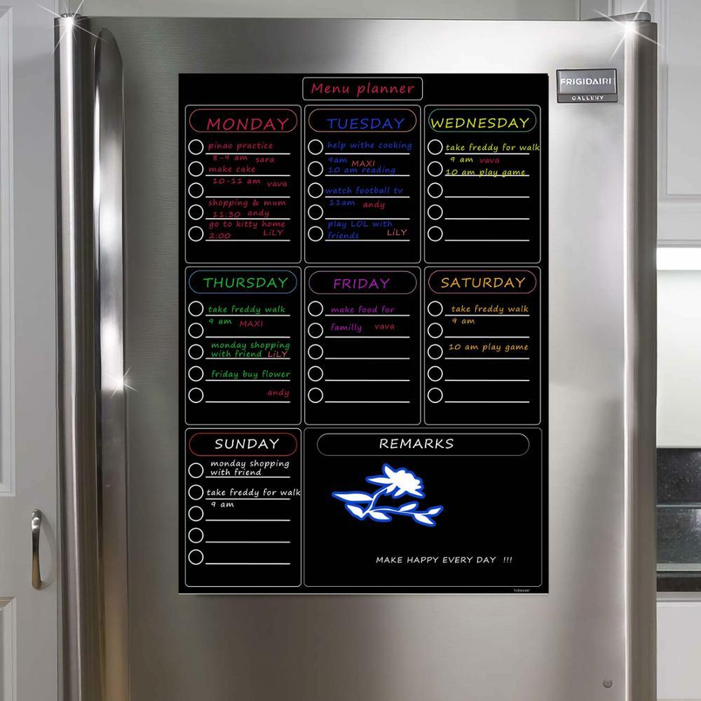 Image 4 - Магнитная доска еженедельник холодильник офисный влажный протирать доска для надписей на холодильник календарь семейный планировщик еды доска памяткиДоска для лекций    АлиЭкспресс