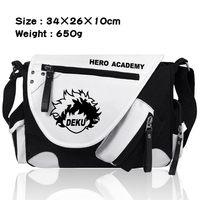 New Boku no Hero Academia Shoulder Messenger Bags Canvas Student School Bags Satchel Anime My Hero Academia Crossbody Bag