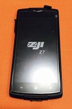 Sử Dụng Ban Đầu Màn Hình Cảm Ứng + Màn Hình Hiển Thị LCD + Khung Cho Homtom Zoji Z7 MTK6737 Quad Core 5.0 Inch Miễn Phí Vận Chuyển