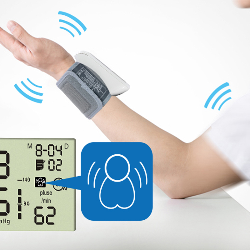 yuwell Wrist Blood Pressure Monitor Bi-color lights Health Care Memory 60 groups Medical Equipment profession Portable 8900A