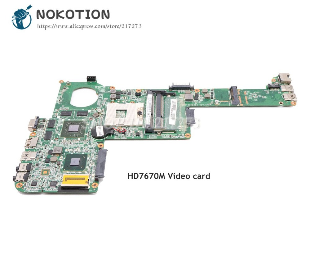 NOKOTION For Toshiba Satellite C840 L840 Laptop Motherboard HM76 DDR3 HD7670M DABY3CMB8E0 A000174880 Main Board nokotion a000175380 laptop motherboard for toshiba satellite c840 l840 main board ati hd7670m graphics ddr3 daby3cmb8e0