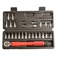 Mxita 1/4 polegada 1 25nm clique chave de torque ajustável ferramentas de reparo da bicicleta conjunto kit ferramenta reparo da bicicleta chave de mão conjunto adjustable torque torque wrench adjustable torque wrench -