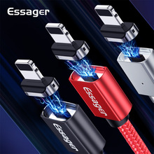 Essager Magnetic USB Charger For iPhone Cable 3M 2M 1M Lghting Data Cable Cord For iPhone X 8 7 6 6S 5 5S SE Fast Charging Wire