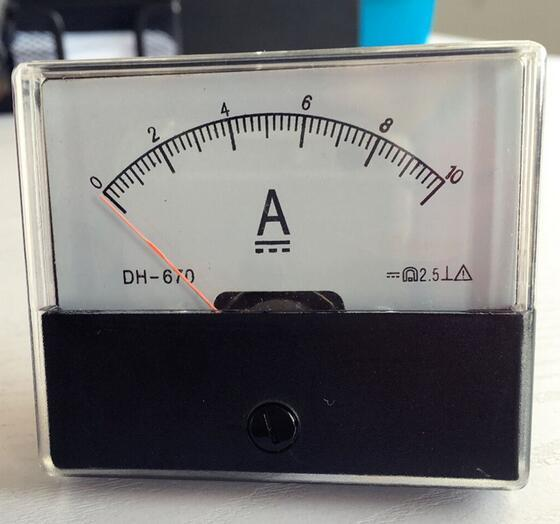 DH-670 DC 0-10A Analog Amp Panel ammeter pointer type current meter panel