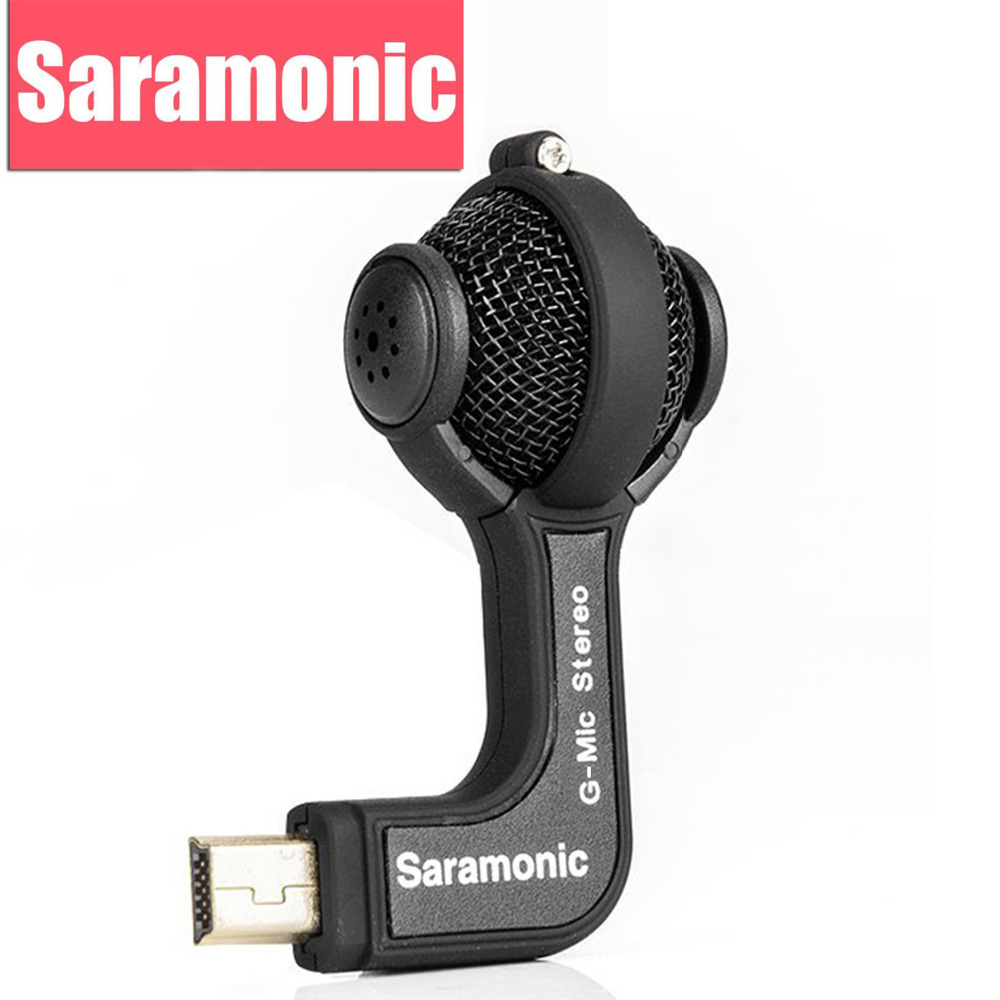 Saramonic G-Mic Gopro Mic Accessories Mini Dual Stereo Ball Professional Microphone for Gopro Hero4 Hero3+ Hero3 Action Cameras