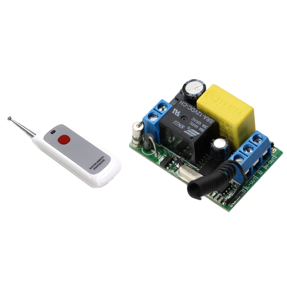Latest Wireless Remote Control Switch AC220V 10A Receiver& One Button Digital Remote Controller ON OFF For Lamp Light Bulb Motor wireless remote control switch 1 2 3ways on off 220v digital distance control switch receiver transmitter for led lamp light