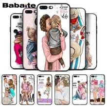 Babaite Baby and Mom Girl Queen Silicone Soft Phone Case for iPhone 8 7 6 6S Plus 5 5S SE XR X XS MAX Coque Shell кабель межблочный аналоговый rca audioquest golden gate 2 m
