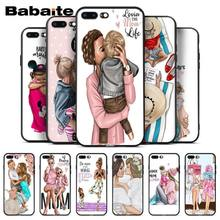 Babaite Baby and Mom Girl Queen Silicone Soft Phone Case for iPhone 8 7 6 6S Plus 5 5S SE XR X XS MAX Coque Shell(China)