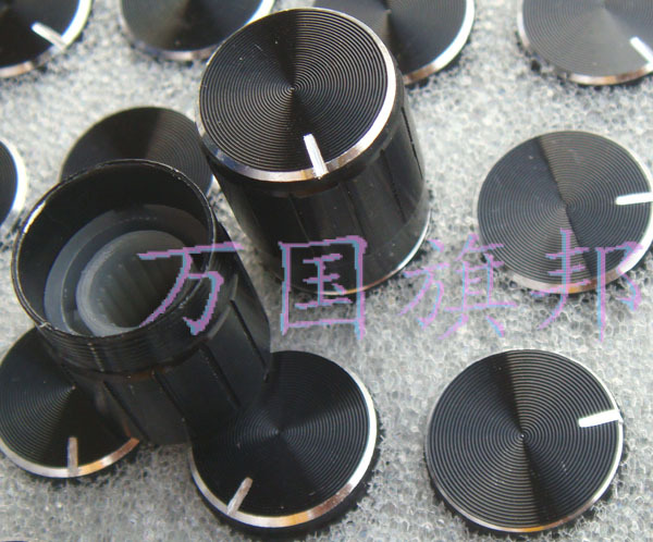 The Free Delivery. potentiometer knob Black Lace aluminum knob high 17MM diameter 15MM 15*17MM