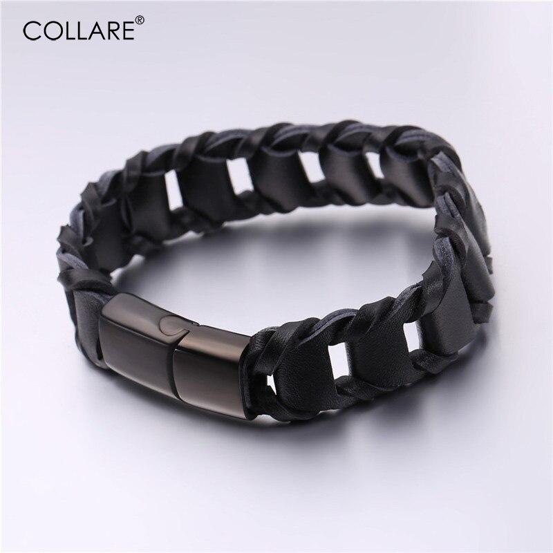 , Ретро кожаный браслет Для мужчин 316L Нержавеющаясталь черный/коричневый Цвет Для женщин Браслеты Для мужчин Jewelry H020