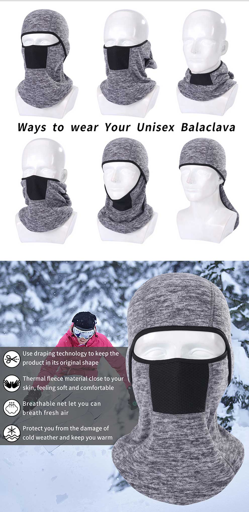 US $11 08 |SUNMECI Motorcycle Face Mask Shawl Autumn Winter Thermal Fleece  Face Shield Mask Moto Balaclava Windproof Cycling Ski Scarf-in Men's