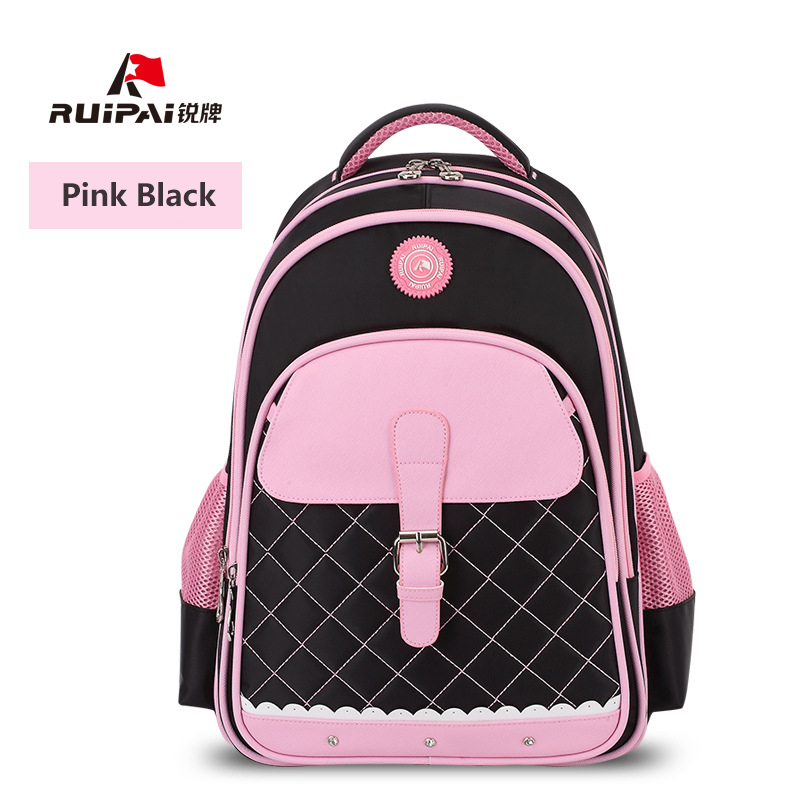 RUIPAI Polyester Kids School Backpack Schoolbags Shoulder Bags For Primary School Girl Pink Bags Comfortable Fashion