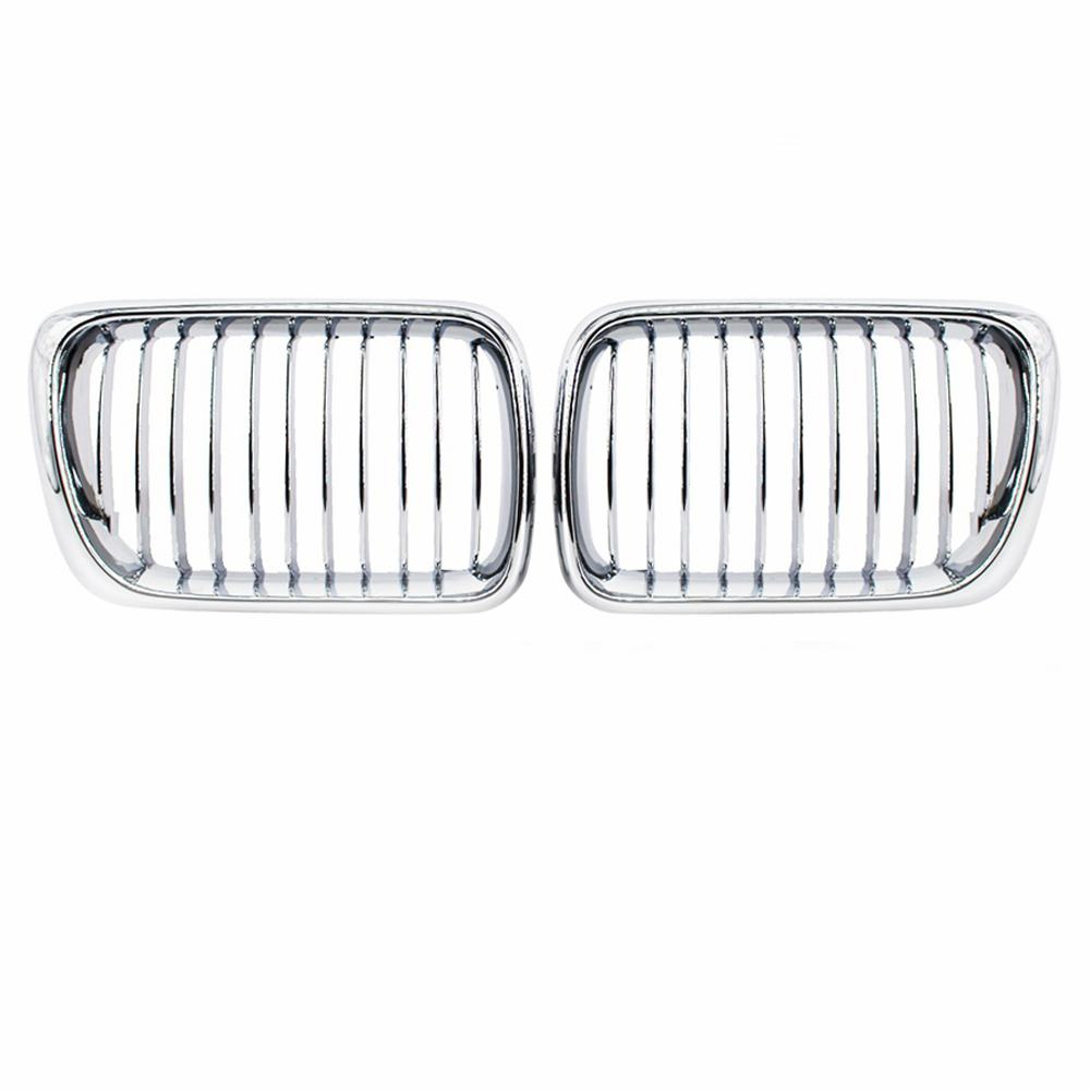 2Pcs Style Front Wide Kidney Grille Grill For Car BMW E36