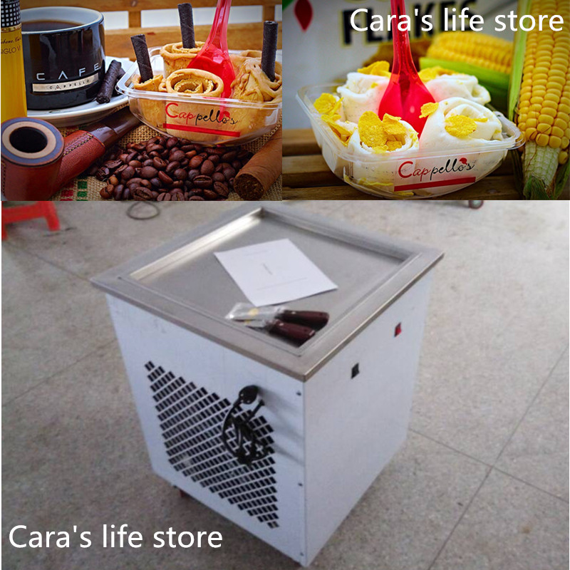 2015 new single Pan style Thai fry ice cream roll machine