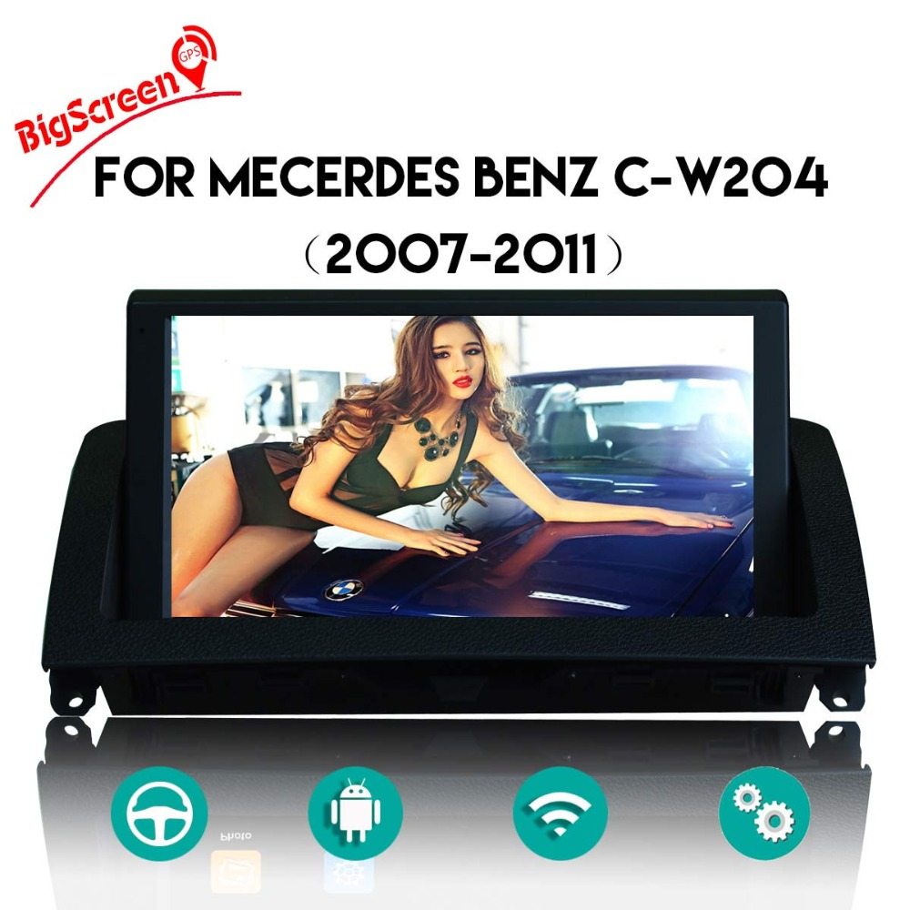 Android 8.0 Car GPS Navi For Mercedes Benz C Class W204 C200 2007~2014 Radio Audio Video Car dvd Player headunit tape recorder