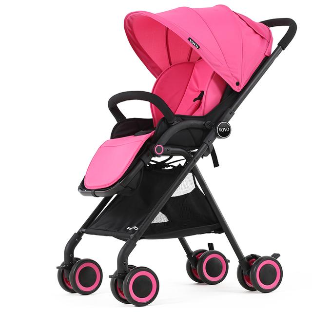 Vovo alta paisaje luz cochecito de bebé cochecito cesta paraguas coche de bebé de verano puede sentarse puede mentir para dormir