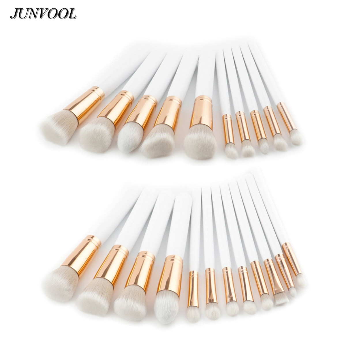 White Gold Makeup Brushes Cosmetic Blending Pencil Professional Soft Cosmetic Eye Eyebrow Shadow Make Up Brush Set Tool Kit g073 professional makeup brush goat hair ebony handle make up eye shadow smudge brushes cosmetic tool eye shadow blending brush