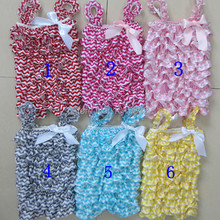 Оформление Петти детские комбинезоны для новорожденных для маленьких девочек Атлас Chevron рюшами комбинезон для новорожденных детская одежда