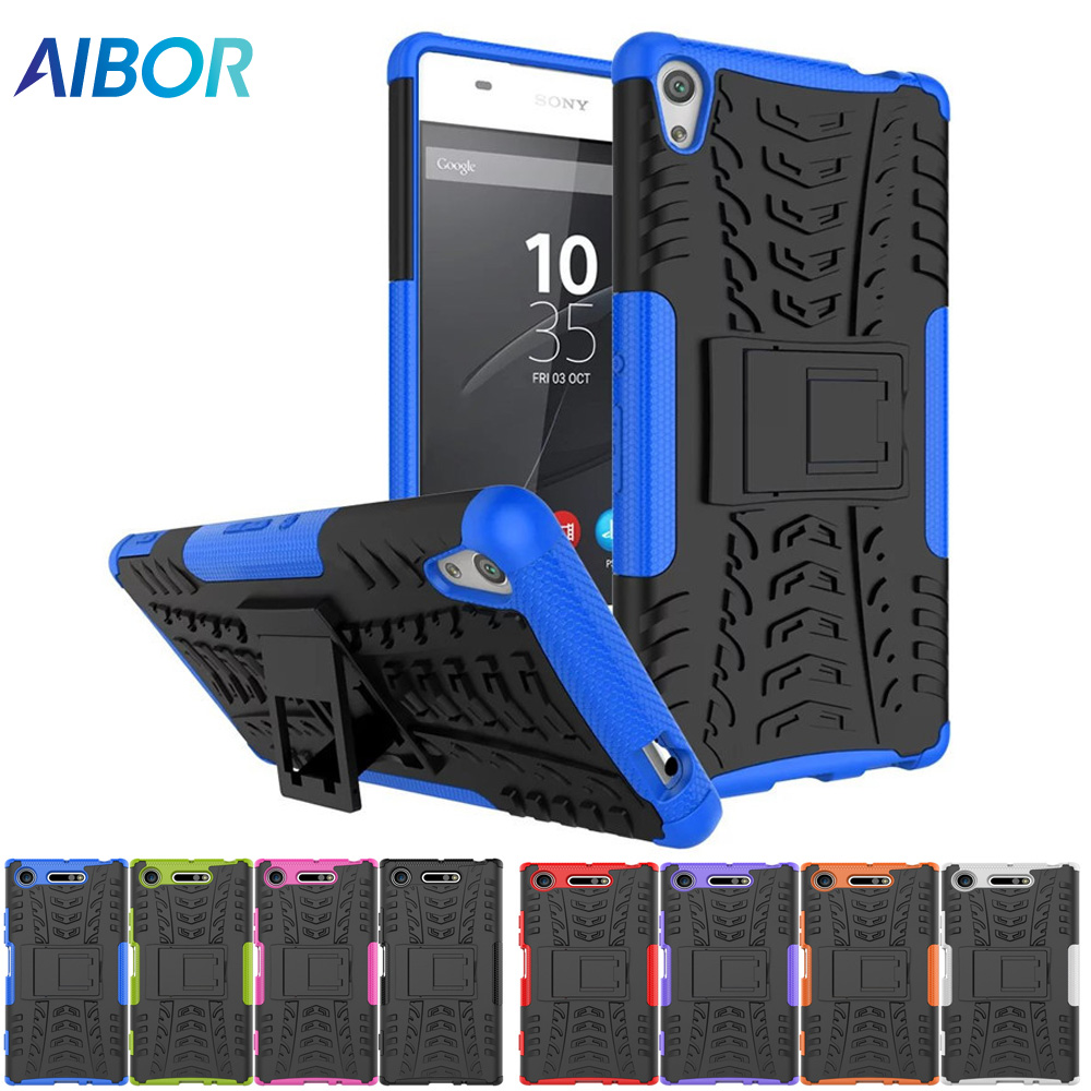 Full Heavy Duty Protection Doom Armor Phone Case For Sony Xperia L3 L2 Pc Soft Tpu Shockproof Back Cover For Sony L1 Stand Case Fitted Cases Cellphones & Telecommunications