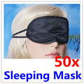 50 x Negro Con Los Ojos Vendados del Recorrido el Dormir Resto Máscara Máscara de Ojos de Sombra Cubierta de La Siesta dormir sombra de ojos