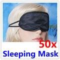 50 x Preto Máscara Máscara de Olho Sombra Nap Capa Blindfold Adormecida Viagem de lazer dormir sombra eye