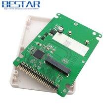 mSATA mini PCI-E SATA SSD to 2.5 inch IDE 44pin Notebook Laptop hard disk case Enclosure White