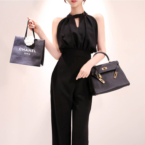 2019 Summer Women Jumpsuits Casual slim Fashion Elegant Office Lady Workwear Romper Islamabad