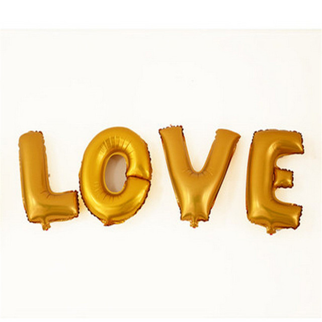 LIEBE Aluminium Folienballons Aufblasbare Helium Luftkugeln  Hochzeitsdekoration Globos Ehe Zimmer Valentinstag Partei Liefert