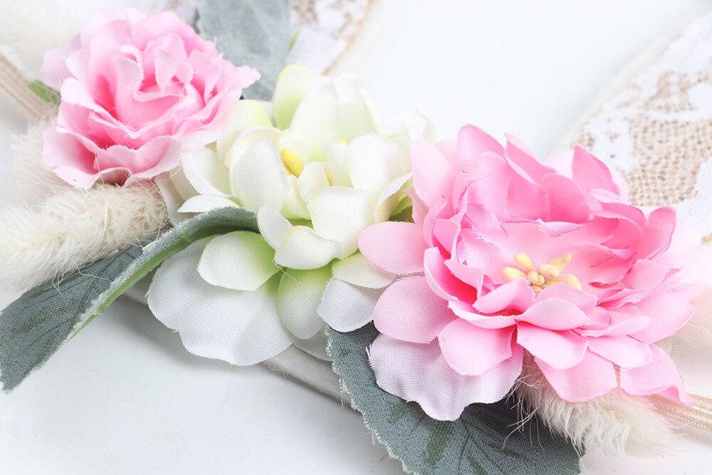 Aniversário Headwear Crianças Flor Coroa de Flores