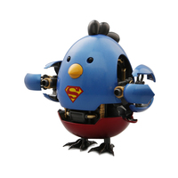 Overloaded Chicken Superman Batman Metal Alloy Hand Office Model Deformation Robot Creative Birthday Gift Toy Doll Capsule