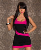 sexy skirt appeal Fashion splicing sleeveless vest dress
