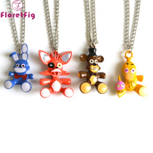 Floretfig Five nights at freddy pendant necklaces cosplay movie anime necklaces jewelry wholesale five nights at freddy lot
